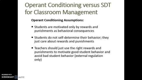 Thumbnail for entry Video Lecture Series#24 Operant conditioning and SDT: Which one works better?