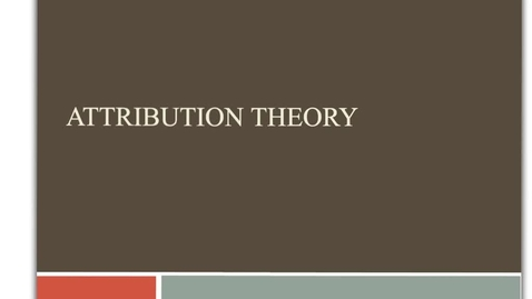Thumbnail for entry Attribution theory