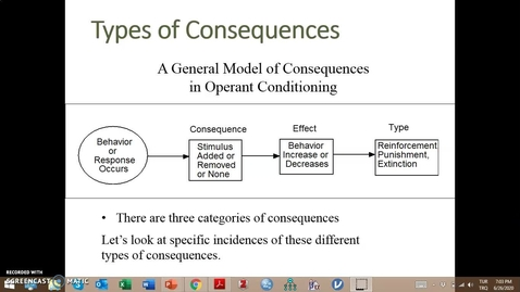 Thumbnail for entry Video Lecture Series#24 Operant Conditioning and classroom management-2