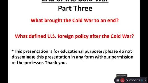 Thumbnail for entry April 27: End of the Cold War - Part Three