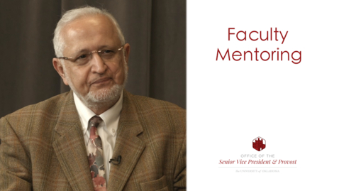 Thumbnail for entry Faculty Mentoring - Farrokh Mistree