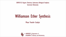 Thumbnail for entry Williamson Ether Synthesis