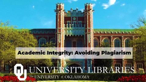 Thumbnail for entry Avoiding Plagiarism Tutorial: Quiz 1 Video