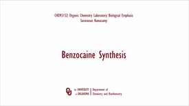 Thumbnail for entry Benzocaine Synthesis