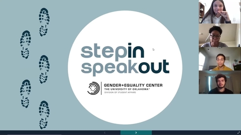 Thumbnail for entry Step In, Speak Out