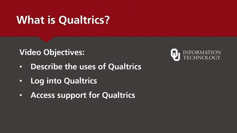 Thumbnail for entry What is Qualtrics?
