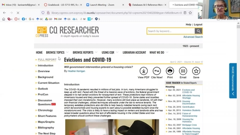 Thumbnail for entry CQ Researcher - Find information about controversial issues