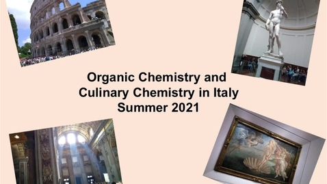 Thumbnail for entry OChem in Italy Promotional Video for Summer 2021
