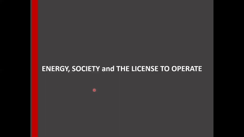 Thumbnail for entry Energy and Society