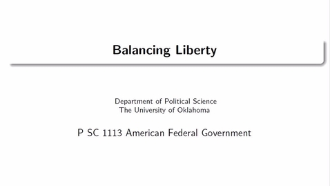 Thumbnail for entry Microlecture 4: Balancing Liberty