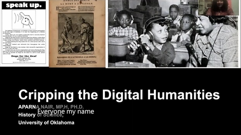 Thumbnail for entry Aparna Nair: Cripping the Digital Humanities (DH@OU5 Digital Humanities Symposium)