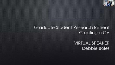 Thumbnail for entry Creating a CV