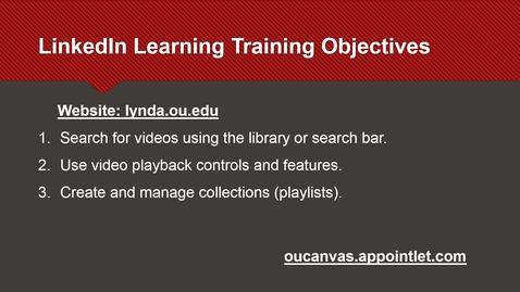Thumbnail for entry LinkedIn Learning Training (5-7-2020)