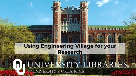 Thumbnail for entry Using Engineering Village for your Research