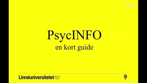 PsycINFO - en kort guide