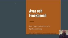 Thumbnail for entry Avaz och FreeSpeech