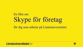 """Thumbnail for entry Trailer """"Skype för företag"""""""