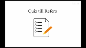 Thumbnail for entry Refero & quiz