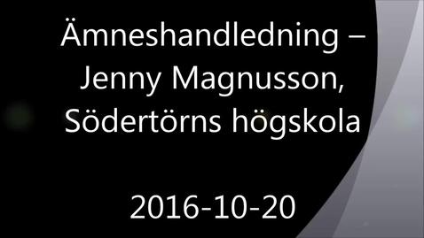 Ämneshandledning - Handledning av självständiga arbeten (konferens) 2016-10-20