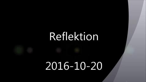 Reflektion - Handledning av självständiga arbeten (konferens) 2016-10-20