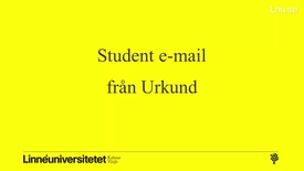 Thumbnail for entry Urkund student email