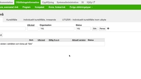 Thumbnail for entry Meny Utbildningsinformation