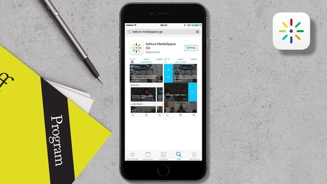 Så här använder du appen Kaltura Mediaspace GO