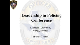 Leading change in the Police Culture