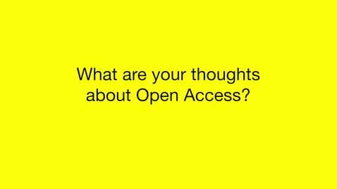 Intervju med Rektor - Open Access Week 2016