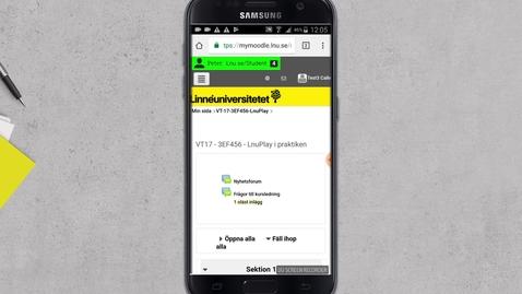 Bädda in video i diskussionsinlägg från Mobil -Android