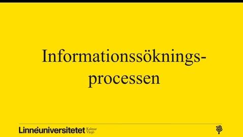 Informationssökningsprocessen