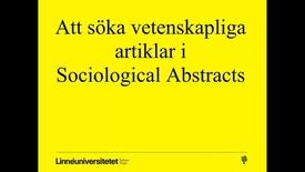 Miniatyrbild för inlägg Sociological abstracts