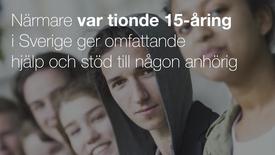 Miniatyrbild för inlägg Närmare var tionde 15-åring i Sverige ger omfattande hjälp och stöd till någon anhörig