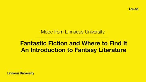 Fantastic Fiction and Where to Find It. An Introduction to Fantasy Literature. March 26 2018
