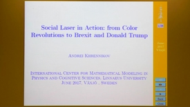 Miniatyrbild för inlägg Social Laser in Action: from Color Revolutions to Brexit and Donald Trump - Andrei Khrennikov