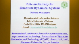 Miniatyrbild för inlägg Note on Entropy for Quantum Dynamical Systems - Noburu Watanabe