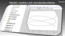 Miniatyrbild för inlägg Medel median och standardavvikelse hur beräknar man det i Matlab?