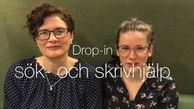 Thumbnail for entry Drop-in Sök- och skrivhjälp