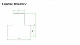 Miniatyrbild för inlägg AutoCad rita en figur med linjer