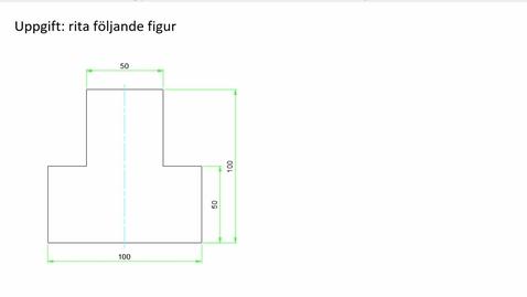 AutoCad rita en figur med linjer