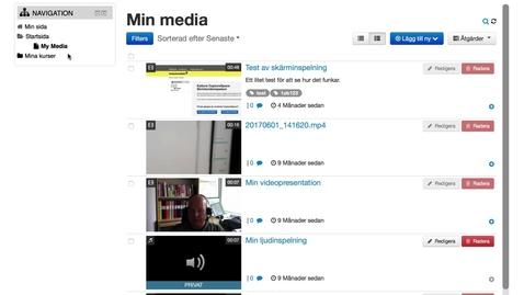Om min media i Mymoodle