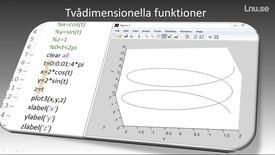 Thumbnail for entry Tvådimensionella funktioner, mesh och meshgrid
