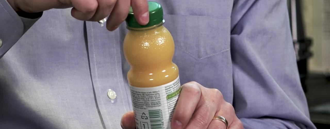 Så får korkarna på juicepaketen det rätta klicket