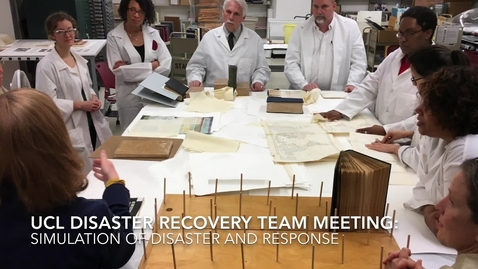 Thumbnail for entry Disaster Recovery Team Meeting - Simulating a Water Emergency