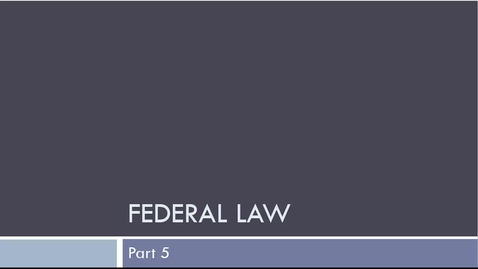 Thumbnail for entry Federal Law Part 5: Finding Federal Cases on Lexis & Westlaw