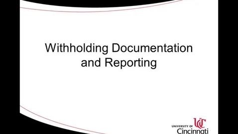 Thumbnail for entry ACCT8036 Steinke Lecture 3-3 Withholding Documentation and Reporting