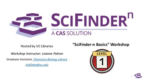 """Thumbnail for entry Workshop """"Meet the New SciFinder-n"""" (recorded November 10, 2020)"""