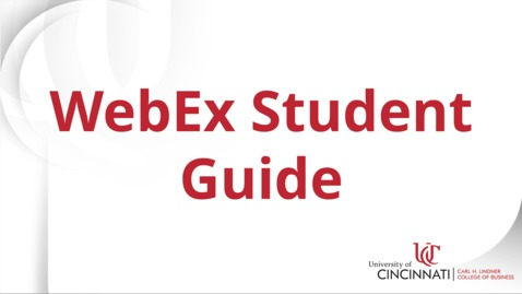 Thumbnail for entry WebEx Student Guide
