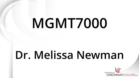 Thumbnail for entry MGMT7000_Module 6 Introduction