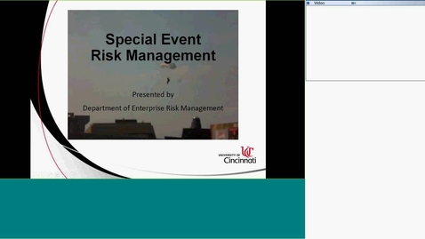 Thumbnail for entry Part 3 Special Event Risk Management